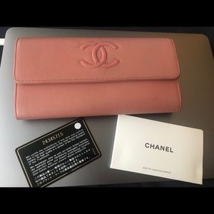 Authentic Chanel Clutch/Wallet in dusty rose